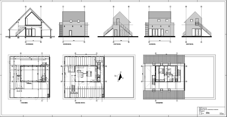 Definitief ontwerp huis in huis in okkenbroek for Tekening badkamer maken